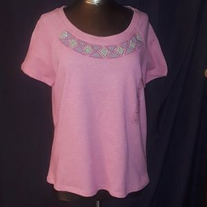* Hannah Fashion Tee Embroidery & Bling Embellish